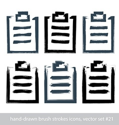 Set of hand-drawn simple prescription pads brush vector image vector image