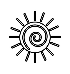 Sun silhouette isolated icon vector