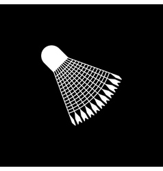 The badminton icon Shuttlecock symbol Flat vector image