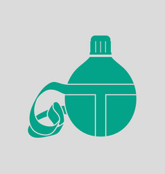 touristic flask icon vector image