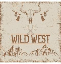 Western vintage poster vector image