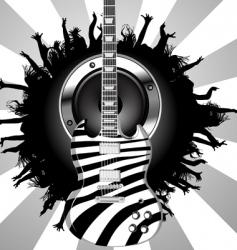 zebra guitar vector image vector image
