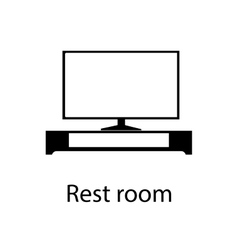 Home and hotel rest room interior with furniture vector