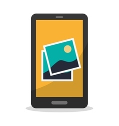 Isolated smartphone and picture design vector