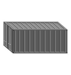 Containers icon gray monochrome style vector