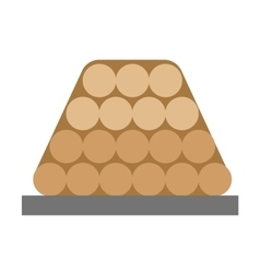 Firewood stack wooden material vector