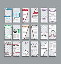 Set of white flyers format 210x99 mm vector