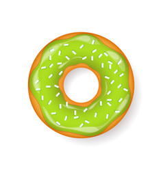 donut begel with cream cookiescookie cake vector image