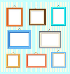 Retro picture image cartoon frames set vector