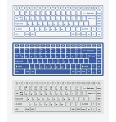 Computer keyboards vector