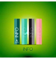 Color bright glossy lines - banner templates vector