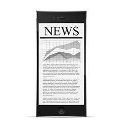 news on phone display vector image