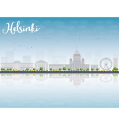 Panorama of old town in helsinki vector