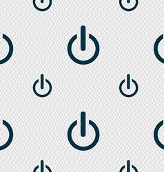 Power sign icon switch symbol seamless pattern vector