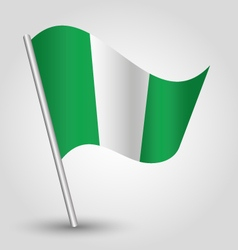 Nigerian flag on pole vector
