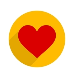 Flat style heart icon vector