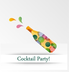 Colorful cocktail party invitation vector