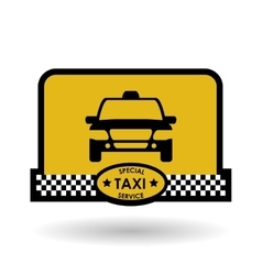 Taxi design cab concept transportation icon vector