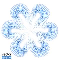 Blue tiare flower doted pattern monoi flower vector