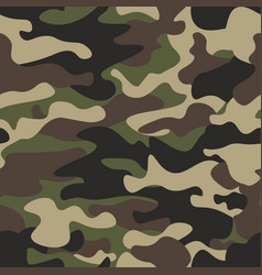 camouflage seamless pattern background classic vector image vector image