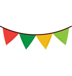 colored garland pennant decoration festive vector image