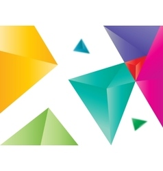 colored triangles abstract vector image vector image