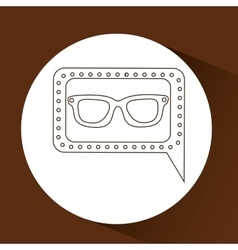 Concept hipster fashion glasses graphic vector