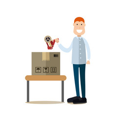Delivery people concept in vector