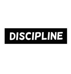 Discipline typographic stamp vector