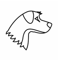 Dog icon outline style vector image vector image