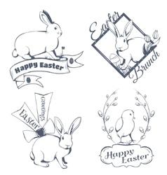 Happy easter logo vector