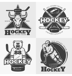 Hockey team design elements vector