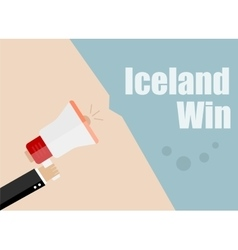 Iceland win Flat design business vector image vector image