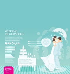 infographic wedding set vector image vector image