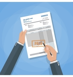 invoice sign up vector image