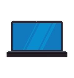 Laptop gadget technology communication icon vector