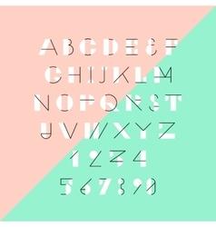 Modern trendy geometric font vector image vector image