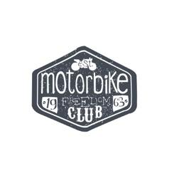 Motorbike club vintage plate vector