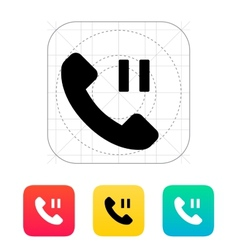 Phone call pause icon vector