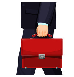 realistic picture of man with budget briefcase vector image vector image