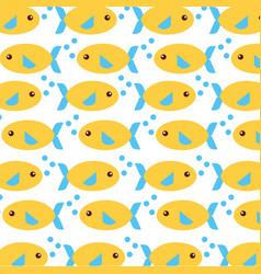 Sea fish swiming pattern vector