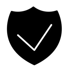 security shield silhouette icon 48x48 vector image