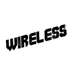 wireless rubber stamp vector image vector image