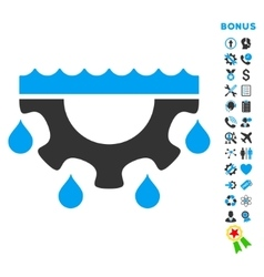Water service flat icon with bonus vector