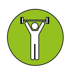 Human figure weight lifting vector