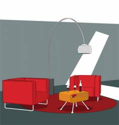 Sitting area vector