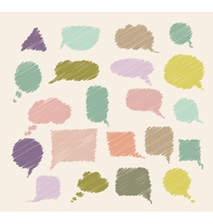 set of colorful callouts vector image