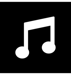 The music disk icon musical symbol flat vector