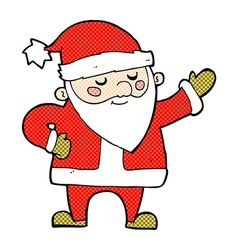 Comic cartoon santa claus vector