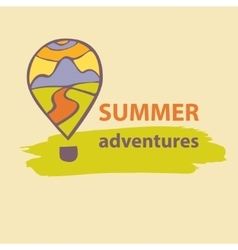 Logo travel company summer adventures vector